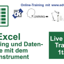 19.08.2020:  Live Online Training MS Excel Datenanalyse - Pivottabellen